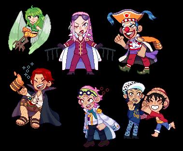 One Piece Pixel Dump by oakyho