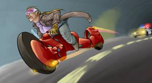 Fugitive Biker Roxanne by dadarulz