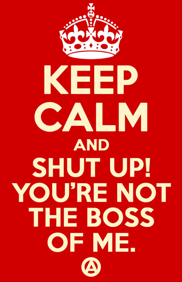 Keep Calm Anarchy Poster by Nuveausapien