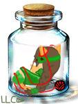 Emerald Bottle by XxLaLa-Chan5000xX