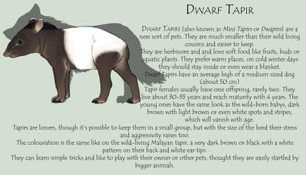 The Dwarf Tapir by Okami-Haru