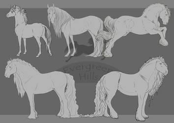 Horse Lines Pack by Okami-Haru