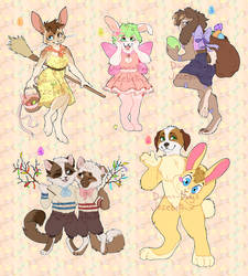 Easter themed adoptables (COLLAB) DISCOUNT by Jezebethx