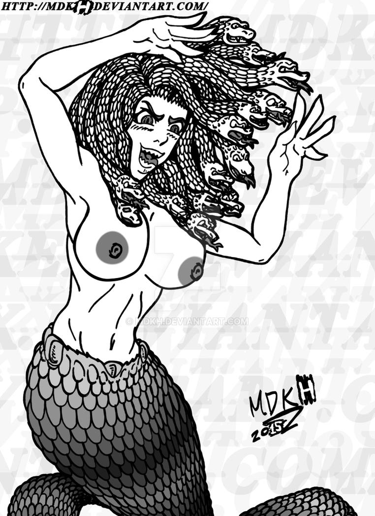 Medusa Topless?! (don't look, otherwise...) by mdkh