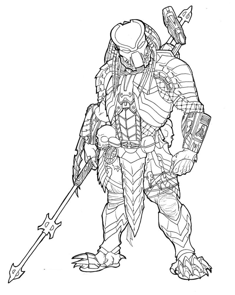 Alien vs Predator Drawings