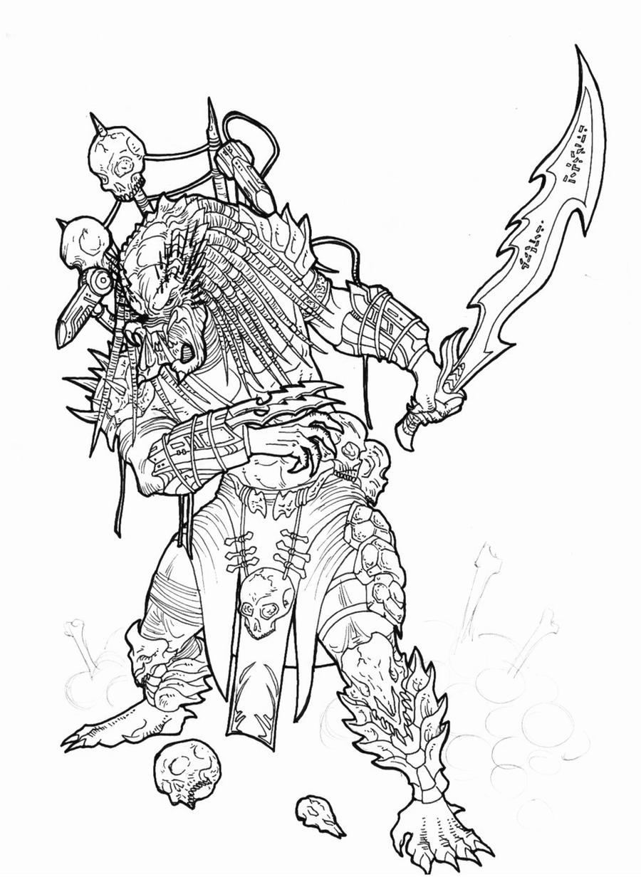 predator coloring pages - photo#24