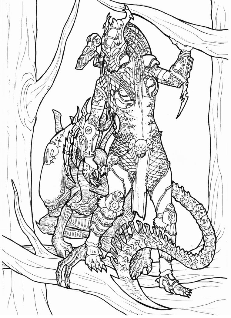 xenomorph coloring book aliens fire and stone covers avpgalaxy