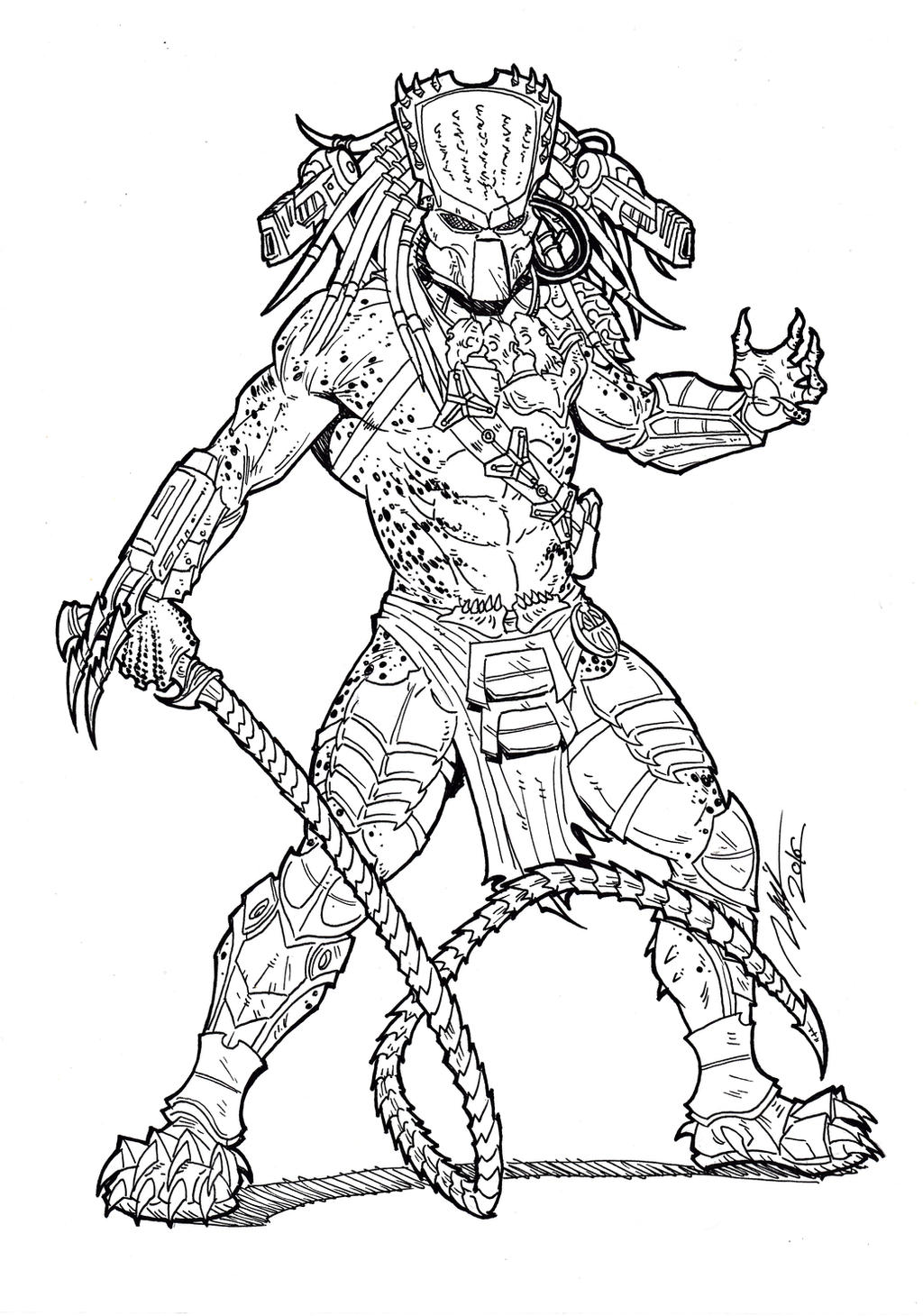 predator coloring pages - photo#17
