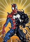 Commission - Spidey turning Venom