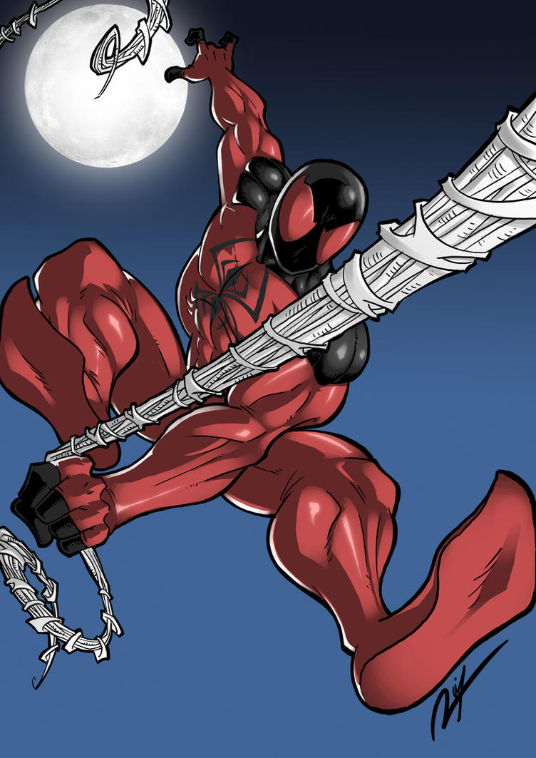 Commission - Kaine's Scarlet Spider by Ronniesolano