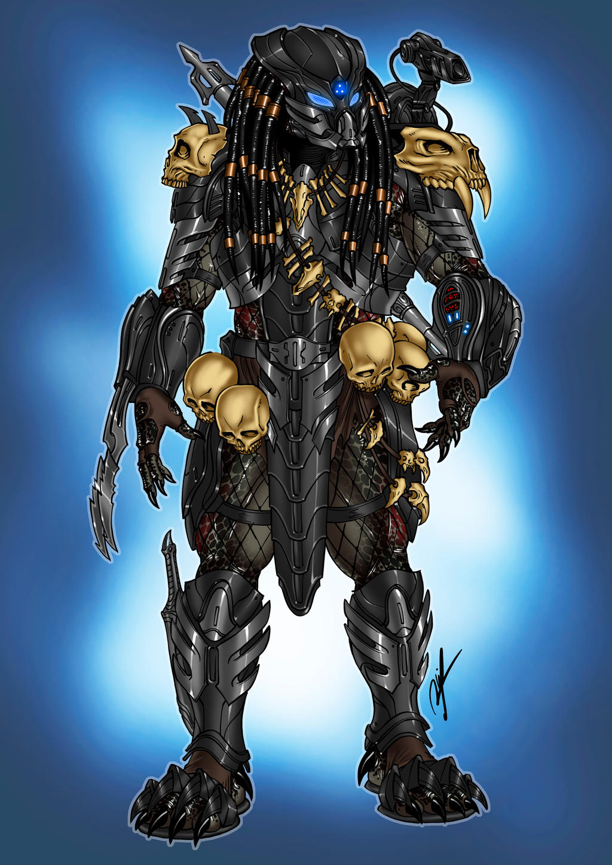 [Commission] Black Armor Predator