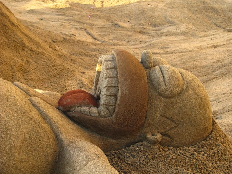 Homero simpson de arena by caothicart