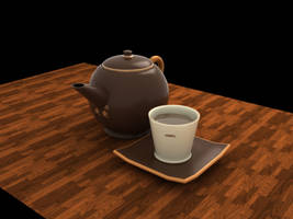 Teapot and Cup by arimogi