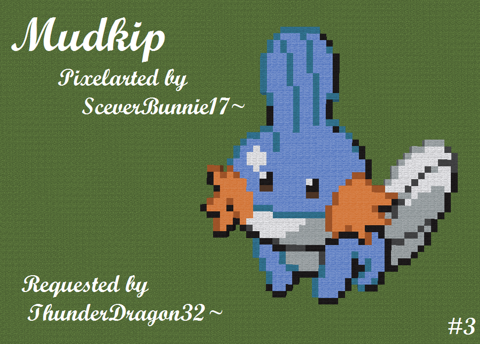 mudkip pixelart by daroguebunniex on deviantart