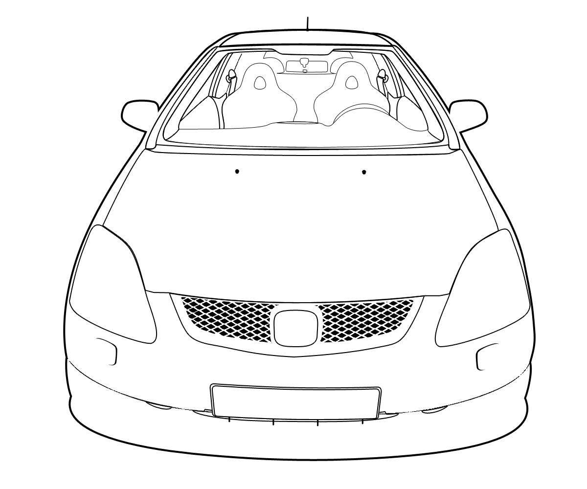 Honda Civic Type-R Outline by Castroreale on DeviantArt