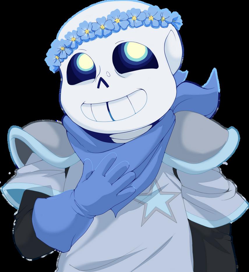 Blue flowers by FloweytheInnocent