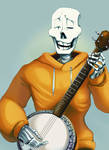 Papy plays the ol' banjo