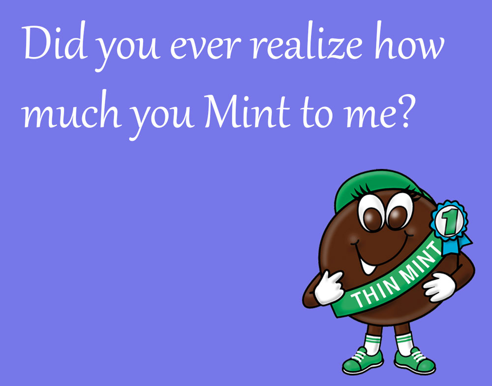 Girl Scout Cookie Cards: Thin Mint by goldenConnpass