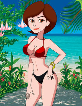 Helen Parr (The Incredibles) in a bikini