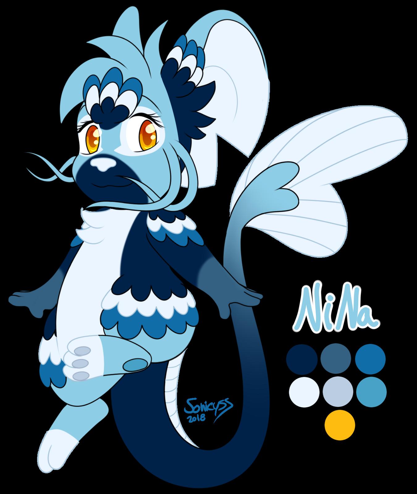 Nina The Dragon Fish - Ref - by Sonicyss