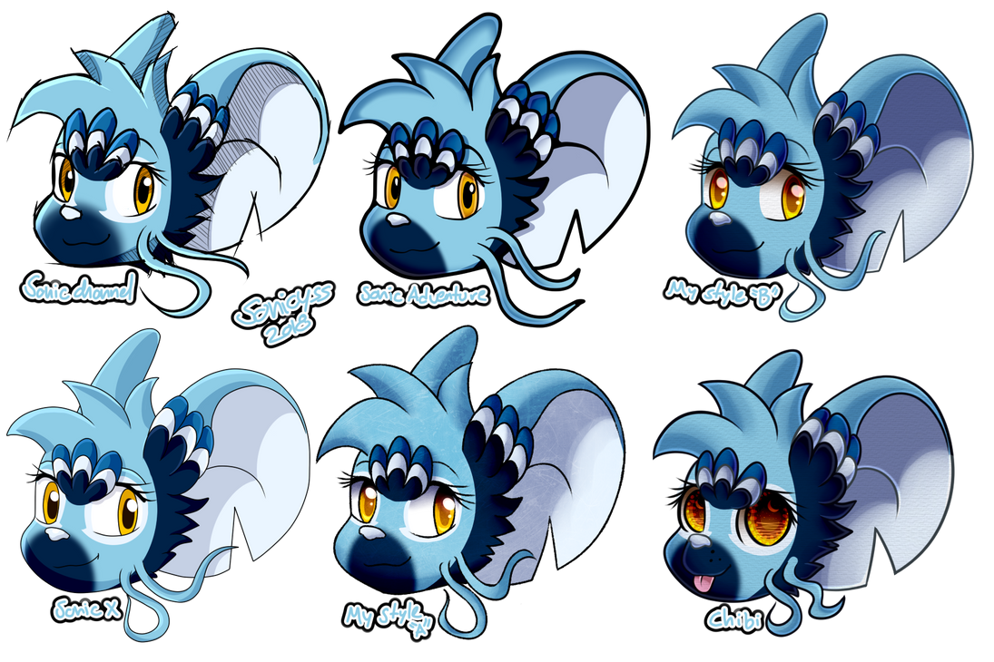 1 Sketch - 6 Styles by Sonicyss
