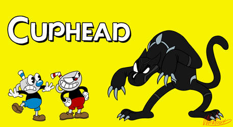 Cuphead Black Panther