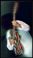 Faceless guitarist