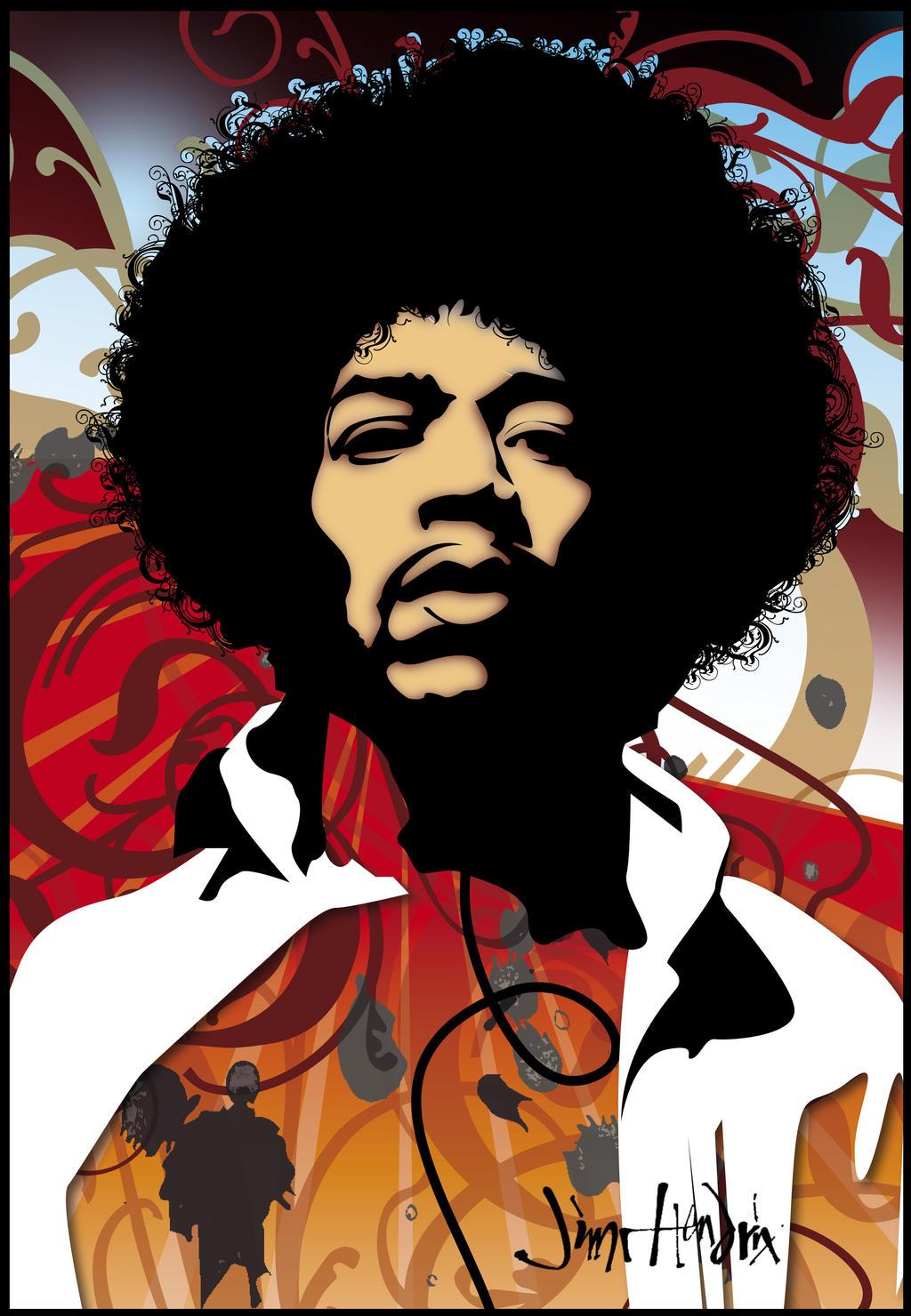 Jimi Hendrix by josephsos