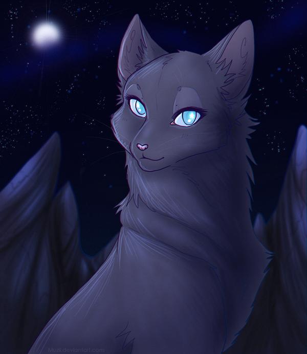 Bluestar by Muzli on DeviantArt Warrior Cat Drawings Bluestar