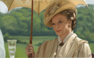 Dame Maggie Smith - Downton Abbey (From Scratch) by dena-gray
