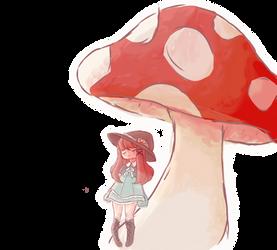 Under a mushroom by ItsCatilda