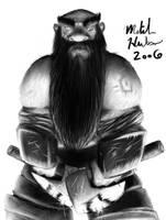 Dwarf Warrior by TheMagicLemur