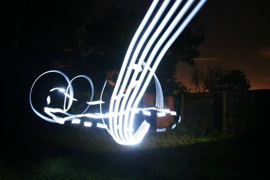 Light graffiti - backyard
