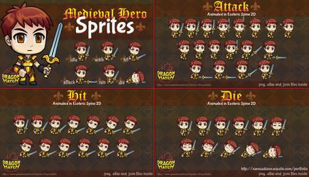 Medieval Hero Sprite Design