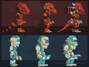Character Evolution Designs