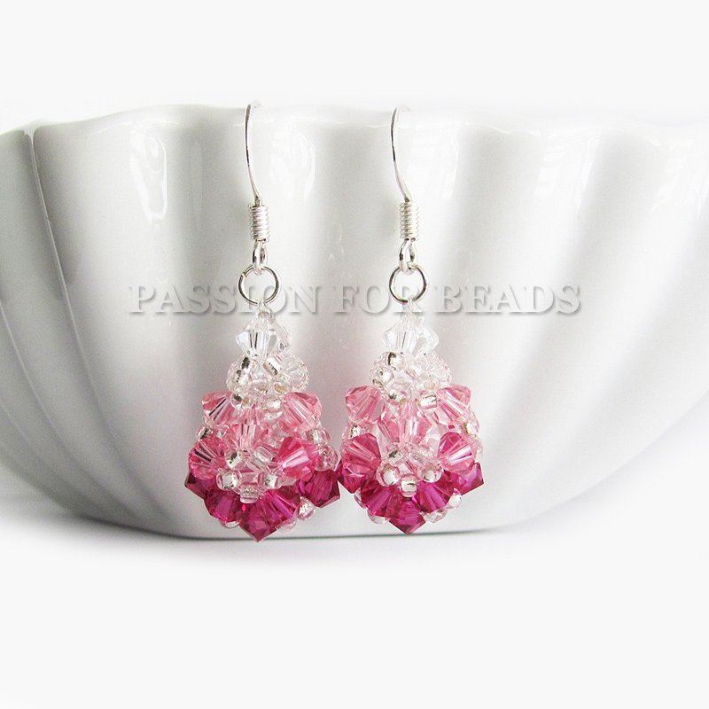 Teardrop SW crystal earrings by PassionForBeads