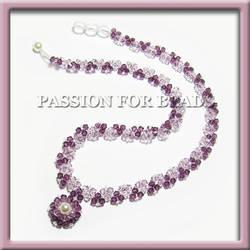 Purple amethyst Swarovski crystal necklace