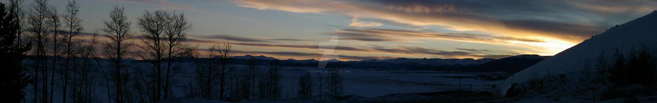 Kenosha Pass Sunset Panorama by sdoorex