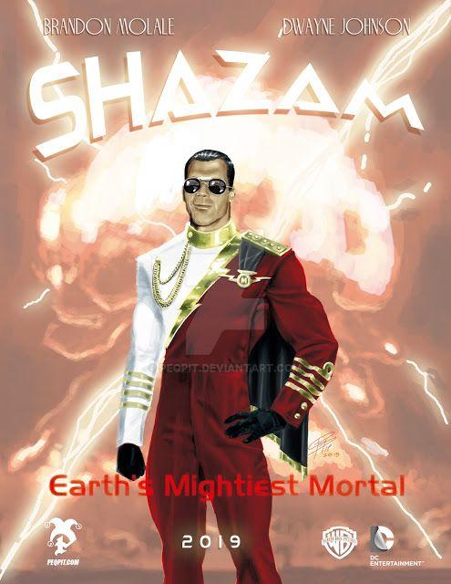 Brandon Molale Shazam Movie Poster by peqpit