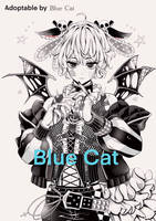 Adoptable by Blue Cat NO.2 (Black and White) by bluecatt
