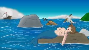Sleepy Mer-Sora by CartoonJohnStudios