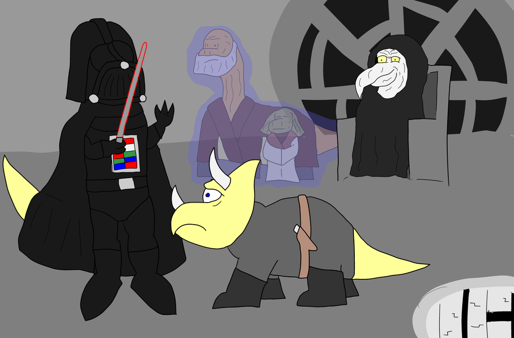 Daily Art #10: Dino Star Wars by MikePodgor