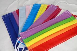 LGBTQ+ flag masks