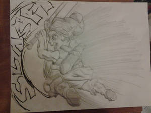 Young Link Smash bros melee sketch