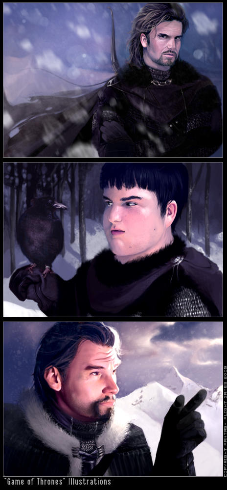 'Game of Thrones' Characters by Kyena