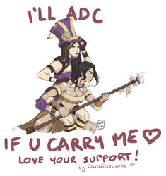 LOVE your SUPPORT! Nidalee/Caitlyn by Sanshikisumire