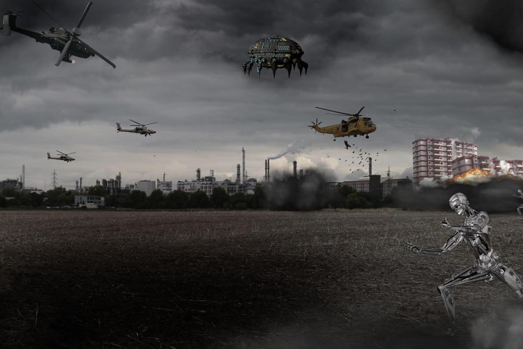Robot War by KarmaRae