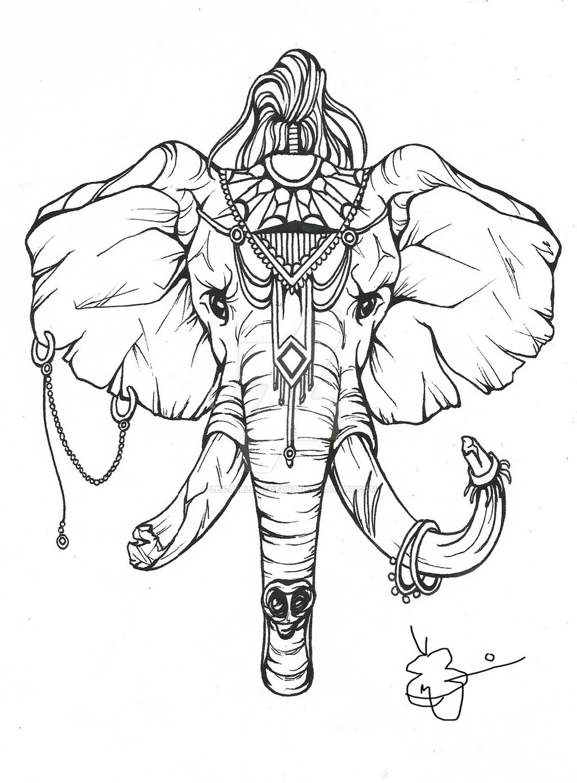 War Elephant Tattoo Design By Les belles soeurs On DeviantArt