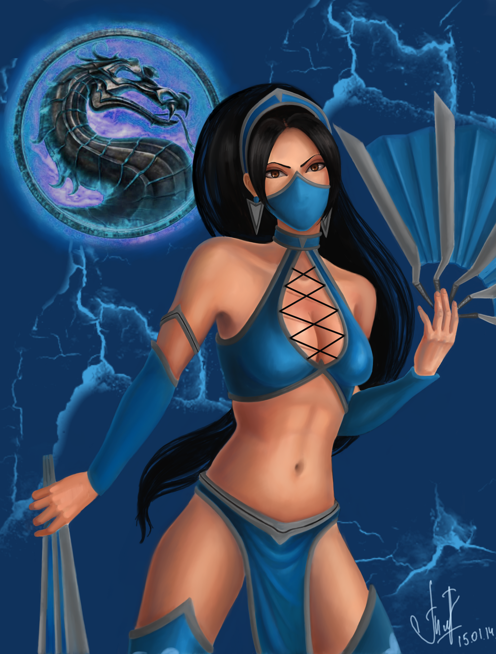 Kitana Naked Mortal Kombat