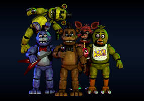 FNaF 1 V4 Pack (By Nathanzica) Blender Release by Holopaxume